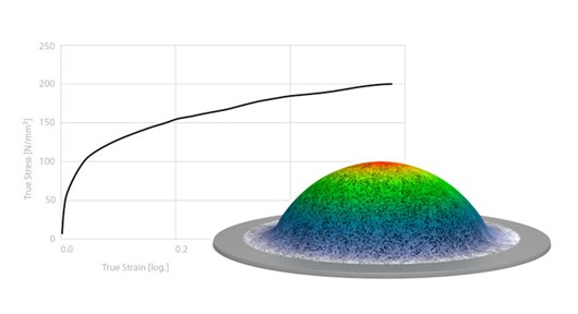 GOM Correlate Features determination of material properties