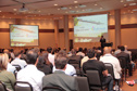 Excited visitors at 9th Robtec Technology Seminar in Brasil